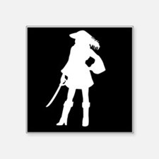 pirate silhouette dark square2 Sticker