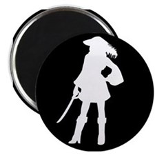pirate silhouette dark square2 Magnet