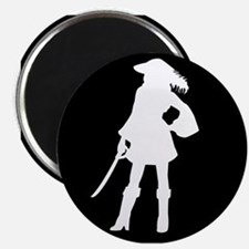 pirate silhouette dark square2 Magnet