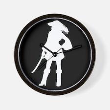 pirate silhouette dark square2 Wall Clock