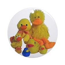 Bunch of Ducks Ornament (Round)