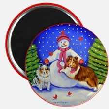 Sheltie Frosty's Helpers Magnet