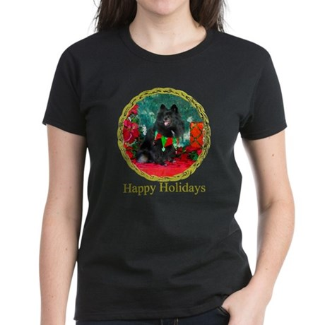 Pomeranian Christmas Diva Women's Dark T-Shirt