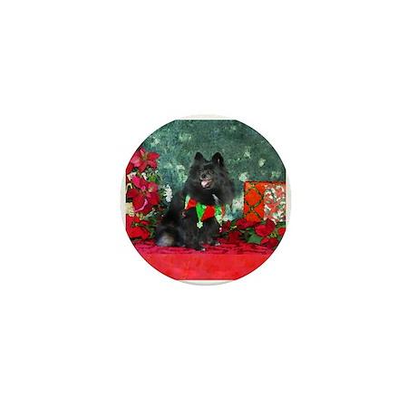 Pomeranian Christmas Diva Mini Button (10 pack)