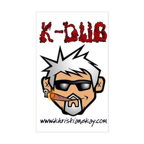Mr. K Rectangle Sticker