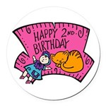 2nd-Birthday-02-[Converted].png Round Car Magnet