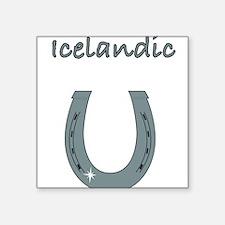 "icelandic Square Sticker 3"" x 3"""