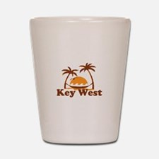 Key West - Palm Trees Design. Shot Glass