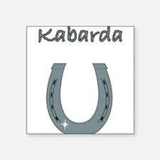 "kabarda Square Sticker 3"" x 3"""