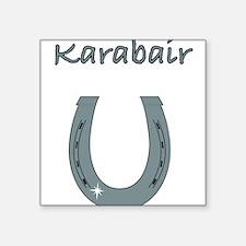 "karabair Square Sticker 3"" x 3"""