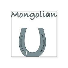 "mongolian Square Sticker 3"" x 3"""
