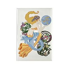 Celtic Afor Aquarius Mermaid Rectangle Magnet
