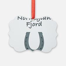 norwegian fjord Ornament