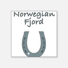 "norwegian fjord Square Sticker 3"" x 3"""