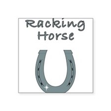 """racking horse Square Sticker 3"""" x 3"""""""