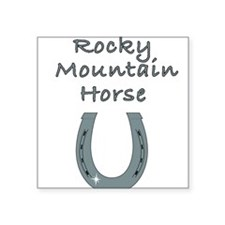 "rocky mountain horse Square Sticker 3"" x 3"""