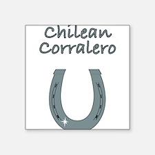 """chilean corralero Square Sticker 3"""" x 3"""""""