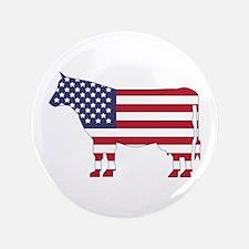 "US Flag Cow Icon 3.5"" Button"