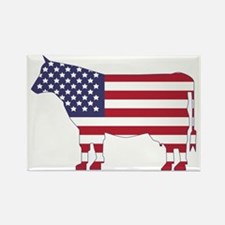 US Flag Cow Icon Rectangle Magnet (100 pack)