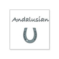 "ANDALUSIAN.jpg Square Sticker 3"" x 3"""