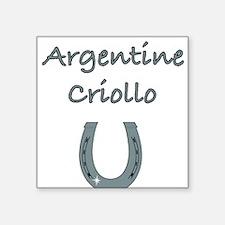 """ARGENTINE-CRIOLLO.jpg Square Sticker 3"""" x 3"""""""