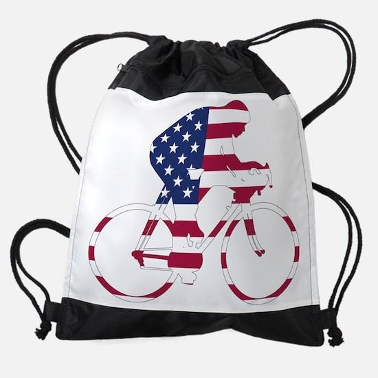 U.S.A. Cycling Drawstring Bag