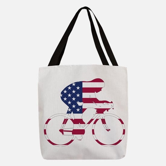 U.S.A. Cycling Polyester Tote Bag
