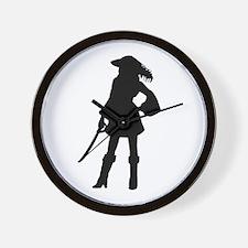 Pirate Girl Wall Clock