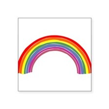 "Rainbow-14-[Converted].jpg Square Sticker 3"" x 3"""