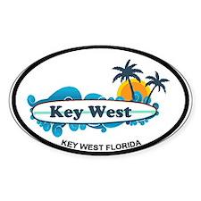 Key West - Surf Design. Decal