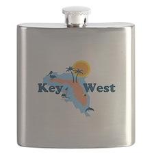 Key West - Map Design. Flask