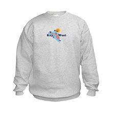 Key West - Map Design. Sweatshirt