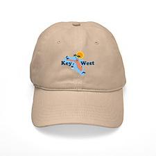 Key West - Map Design. Baseball Cap