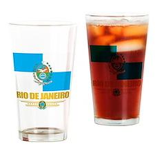 Rio De Janeiro Flag (state) Drinking Glass
