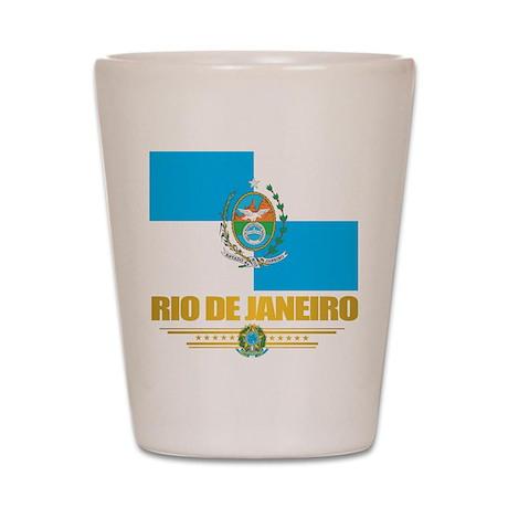 Rio De Janeiro Flag (state) Shot Glass