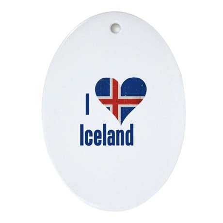 I heart Iceland Ornament (Oval)