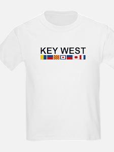 Key West -Nautical Flags. T-Shirt