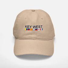 Key West -Nautical Flags. Baseball Baseball Cap