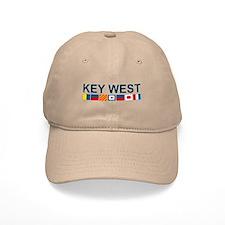 Key West -Nautical Flags. Baseball Cap
