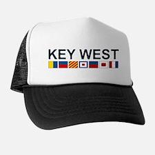 Key West -Nautical Flags. Trucker Hat