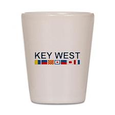 Key West -Nautical Flags. Shot Glass