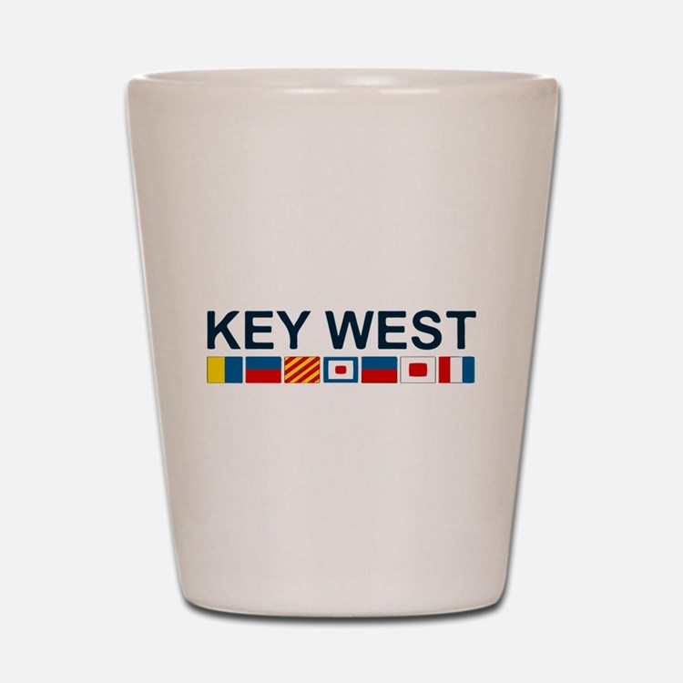 Key West -Nautical Flags. Shot Glass