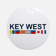 Key West -Nautical Flags. Ornament (Round)