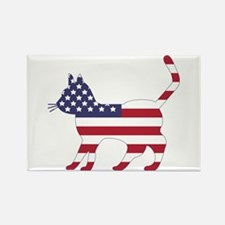 US Flag Cat Icon Rectangle Magnet (100 pack)
