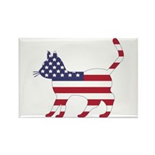 US Flag Cat Icon Rectangle Magnet