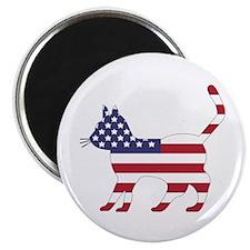 US Flag Cat Icon Magnet