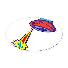 Alien-Abduction-3-[Converte.png Oval Car Magnet