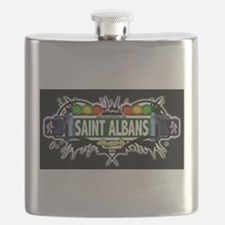 Saint Albans Queens NYC (Black) Flask