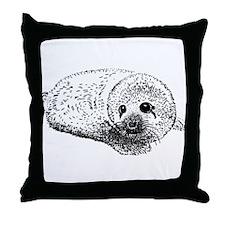 Unique Harp seals Throw Pillow
