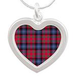 Tartan - Bonnar Silver Heart Necklace